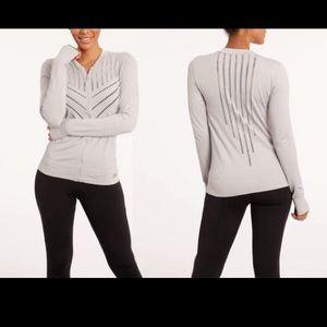 NEW Marika cutout jacket microchip gray L